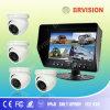 CCTVのドームのカメラが付いているカラークォードのビデオスクリーン