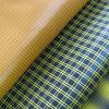 Tafetán, tejido de poliéster Yarn-Dyed Down-Proof, Aceite Cire