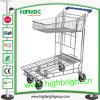 Chariot lourd de chariot à main d'entrepôt pour le supermarché
