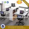 Partition droite de bureau de personnel de boîtier de poste de travail de bureau de siège unique (HX-8N0242)