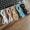 Wholesale Nylonlitze-kundenspezifische Hersteller der Aluminiumlegierung-2A USB-Kabel
