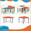 멜라민 책상과 플라스틱 의자를 가진 유치원 아이들 가구 MDF