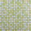 チップサイズ20X20mmの装飾的で黄色く白いタイルガラスのモザイク