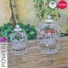 Cage d'oiseau grise antique commerciale de cru classique