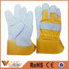 Ce перчаток En388 безопасности заварки изготовления Китая дешевый кожаный