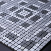 Mosaico di alluminio autoadesivo del metallo dell'argento del triangolo delle mattonelle di Backsplash della buccia e del bastone di Royllent con le mattonelle decorative della parete di vetro del diamante