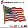 Los EEUU Estándar-Más corto Pole oro personalizado Metal Lacquered Pin de la bandera