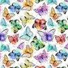 サテンファブリックのための蝶デジタル多彩なプリント