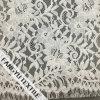 Tela de confeção de malhas do laço do algodão da flor do Sell quente