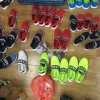 Ботинки холстины Slip-on ботинок женщин с цветом множества (LP16038)