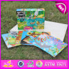 Brinquedo de madeira novo do enigma 2015, brinquedo de madeira popular do enigma, jogo de madeira do enigma Jigsaw da venda quente, enigma de madeira para as crianças W14f045