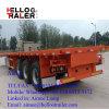 中国人40FTの三車軸60トンの平面容器のセミトレーラー