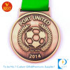 Cheap Football Sport en cuivre 2D/Soccer Médaille des Nations de port