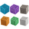 Aprovisionamento de fábrica de brinquedos magnéticos com revestimento de prata magneto esfera esfera