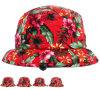 刺繍のロゴの多彩な花の余暇の女性方法バケツの帽子