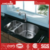 Bassin de cuisine d'acier inoxydable, acier inoxydable sous le bassin de cuisine de cuvette de double de support