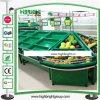Акриловая двойная, котор встали на сторону стойка индикации фрукт и овощ