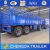3 Eixo Flatbed Cargo Full Trailer para Ásia e África