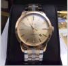 Relógio mecânico impermeável dourado & de prata do aço inoxidável do homem 316 famosos do tipo auto
