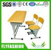 Mesa e cadeira dobro ajustáveis do estudante da venda quente para a sala de aula usada (SF-05D)