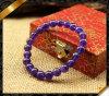 La pietra Amethyst borda i braccialetti, i monili naturali del braccialetto della pietra preziosa (LW062)