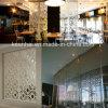 Panneaux en aluminium de partition de mur coupés par laser en métal perforé de Docorative de restaurant d'hôtel