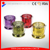 Großhandelsluxuxgoldmercury-Glaskerze-Halter