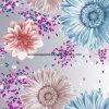 Blume 100%Polyester der Zerstreung des Leben-3D druckte Gewebe für Bettwäsche-Set