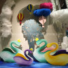 В витрине реквизита купол Swan в парк развлечений украшения