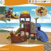 Apparatuur van de Speelplaats van de Jonge geitjes van het Ontwerp van het Schip van de piraat de Openlucht Plastic
