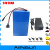 700W 24V 20AH электрический велосипед аккумуляторная батарея