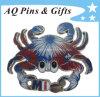 Distintivo su ordinazione di Pin di scintillio dei granchi dei fuochi d'artificio con epossidico (badge-011)