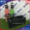 Support d'affichage en bouteille acrylique noir pour vin