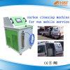 Máquina limpia del carbón de Hho de la colada del motor Mini Van Mobile Service