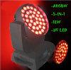 Testa mobile calda della lavata LED di vendita 36PCS 15W RGBWA 5in1