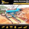 Pantalla de gran minería aluvial de procesamiento de mineral de oro de la planta móvil Trommel