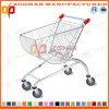 Вагонетка магазинной тележкаи крома формы дуги супермаркета (Zht49)