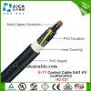 E-JJ, cabo de controle, 0.6/1kv, Cu/PVC/PVC contínuo