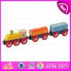 O brinquedo de madeira para o bebê, mini brinquedo de madeira do caminhão quente da tração da venda 2015 do caminhão da tração, finge o brinquedo do caminhão da tração do jogo para as crianças W05c030
