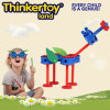 Brinquedo educacional plástico para blocos de apartamentos das crianças