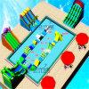 Напольные подгонянные раздувные игрушки оборудования воды игры для парка воды