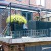 Balkon-eingehangenes Aluminiumu-profilstäbeausgeglichenes Glas Frameless Spitzengeländer