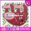 새로운 디자인 유아 W14k012를 위한 취학 전 나무로 되는 장난감 시계