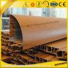 OEM de madera de grano de aluminio para la puerta corrediza de aluminio