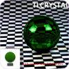 Esferas de cristal verdes de Feng Shui