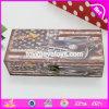 A venda por atacado personaliza caixas de armazenamento de madeira quadradas para a venda W18A012