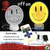 Sinal de néon claro Desktop de sorriso acrílico de lâmpada de tabela da face do diodo emissor de luz 12V 220V para a decoração Home da parede