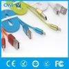 Cinco dados de Charger&Transfer das cores lisos para o cabo do USB do iPhone