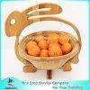 Нетоксическая складная Bamboo деревянная корзина рудоразборки плодоовощ с ручкой