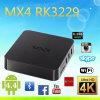 La casella Android Mx4 nuovo Rk3229 astuto della TV accetta contenitore TV del quadrato di Kodi della casella del DHL TV di memoria il nuovo Rk3229 Mx4 TV di casella Android